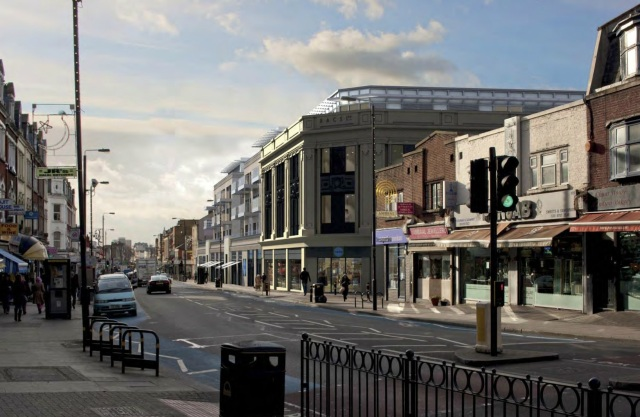Artists impression of proposals for RACS building in Upper Tooting Road
