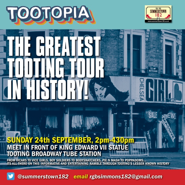 Tooting History Ramble publicity 24th September 2017