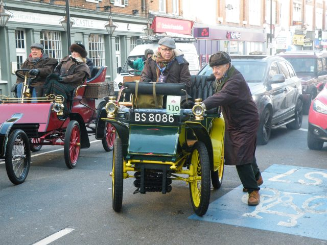 Car breaks down in Tooting on Veteran Car Run