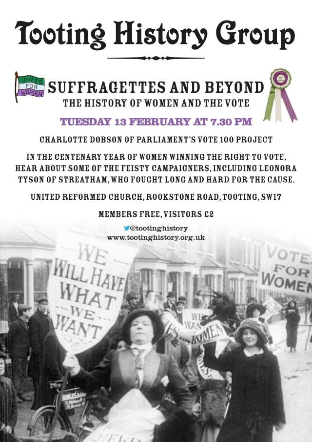 Poster advertising February Meeting