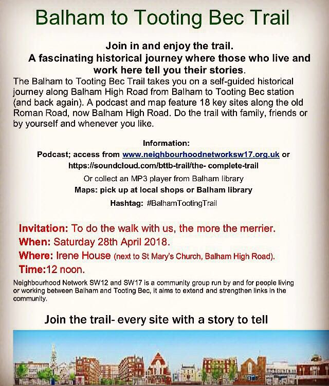 Poster For Balham-Tooting Bec Trail