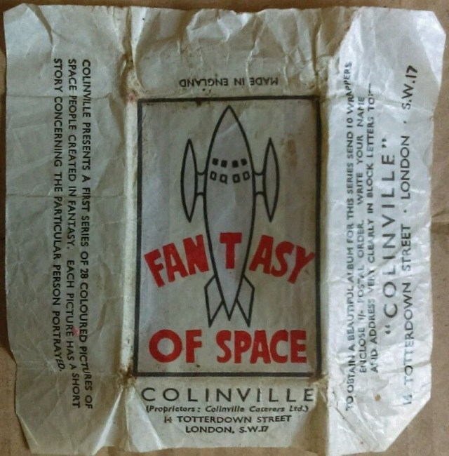 A wrapper for Fantasy of Space from Colinville of Totterdown Street, Tooting