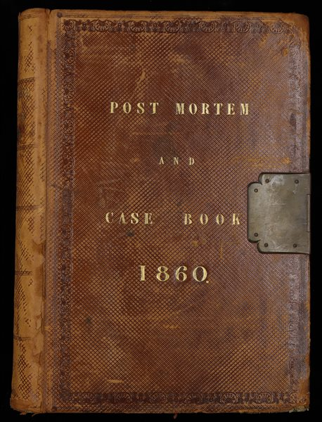 Picture of a Post Mortem Case Book From 1860