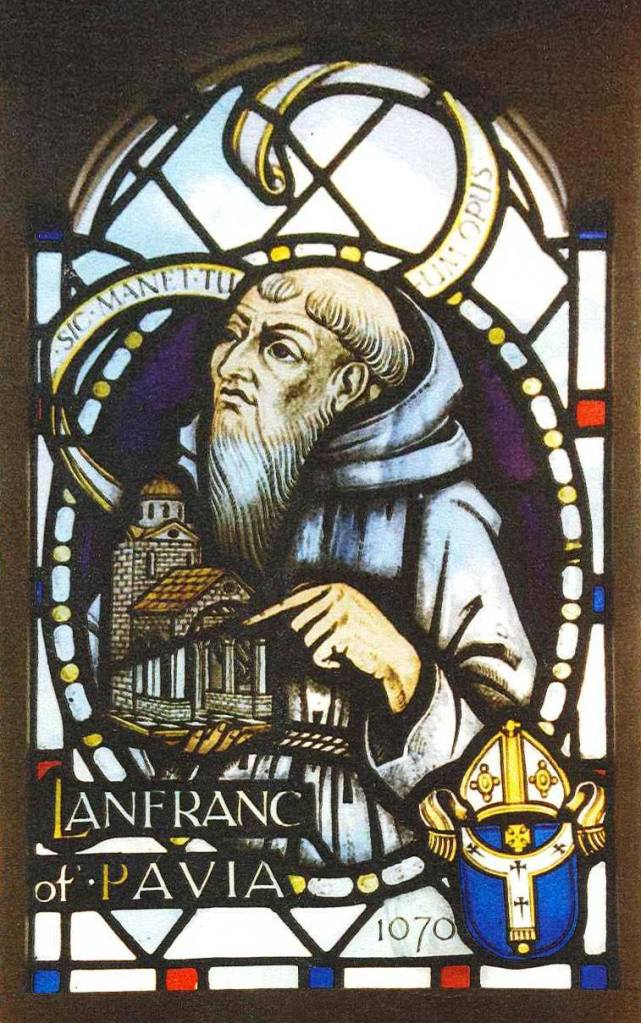 Picture of stained glass window designed by John Hayward